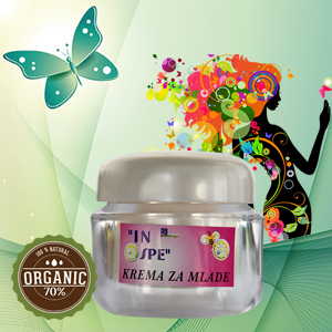 Natural cream for young skin